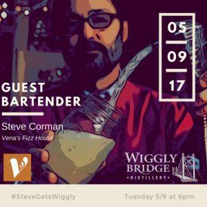 Steve Corman, Venas Fizz, guest bartender