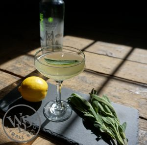 wiggly, bees knees, cocktail, lemon, sage, gin