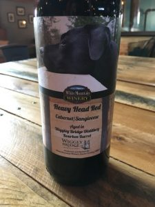 heavy head red, white mountain winery, barrel aged