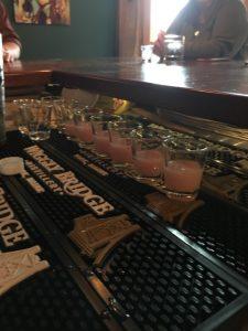 cocktail samples, menu, spring