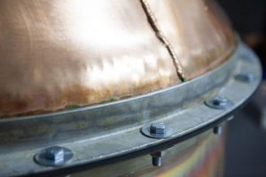 copper pot still, copper, still, welding