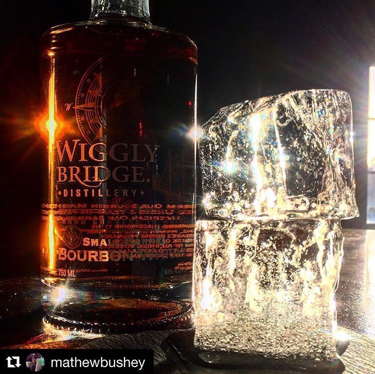 Wiggly Small Barrel Bourbon and Ice Cube