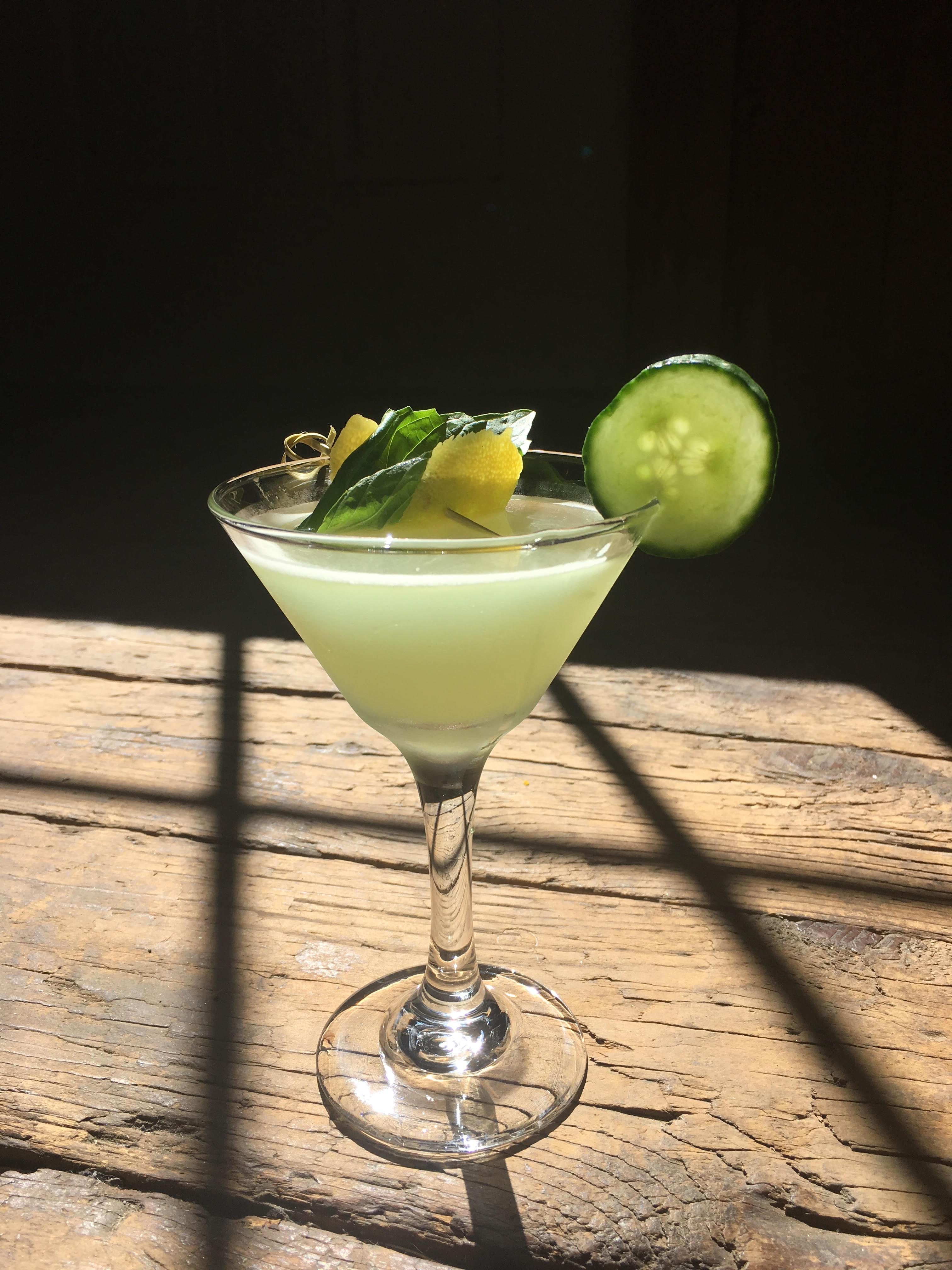 Garden Goddess Gin Cucumber basil lemon